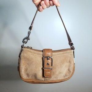 Coach Tan Suede Leather Mini Bag